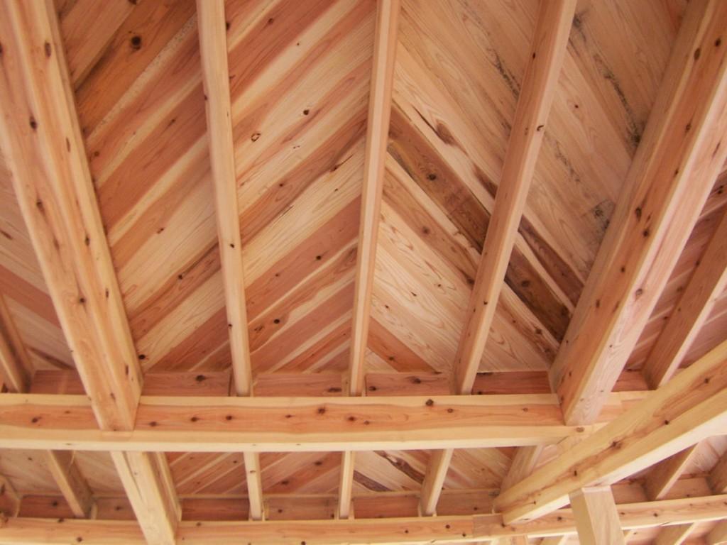 無垢材 屋根 下地 西川材 ワイズ